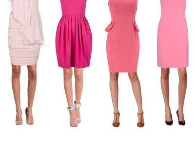 Цвет туфлей под розовое платье