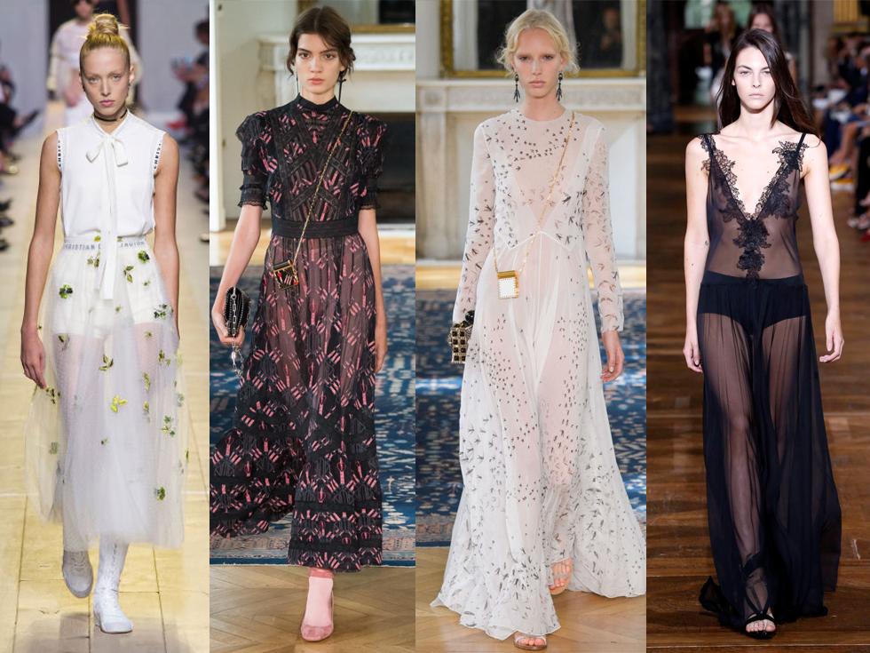 Моду на прозрачные платья